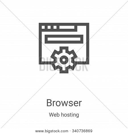 browser icon isolated on white background from web hosting collection. browser icon trendy and moder