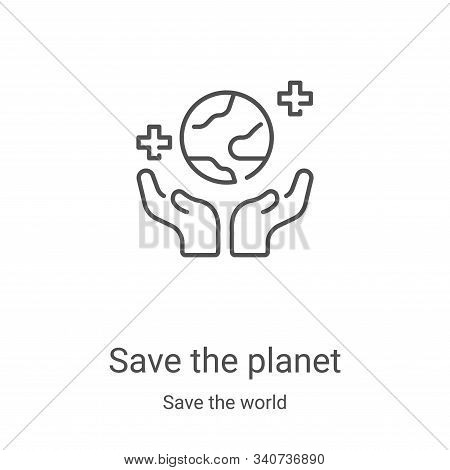 save the planet icon isolated on white background from save the world collection. save the planet ic