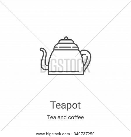 teapot icon isolated on white background from tea and coffee collection. teapot icon trendy and mode