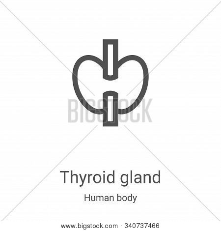 thyroid gland icon isolated on white background from human body collection. thyroid gland icon trend