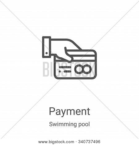 payment icon isolated on white background from swimming pool collection. payment icon trendy and mod