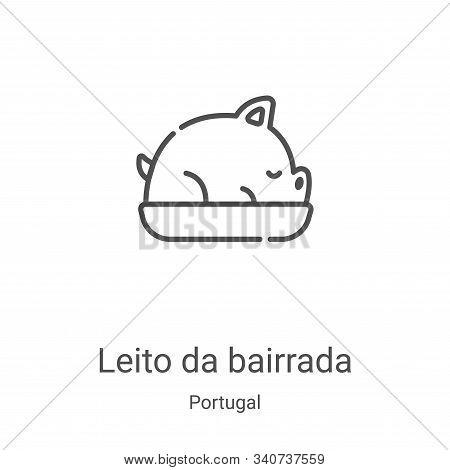 leito da bairrada icon isolated on white background from portugal collection. leito da bairrada icon