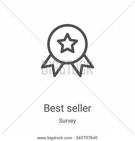 best seller icon isolated on white background from survey collection. best seller icon trendy and mo