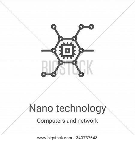 nano technology icon isolated on white background from computers and network collection. nano techno