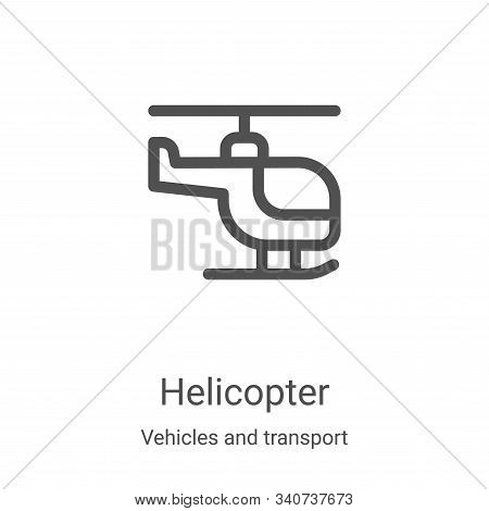 helicopter icon isolated on white background from vehicles and transport collection. helicopter icon