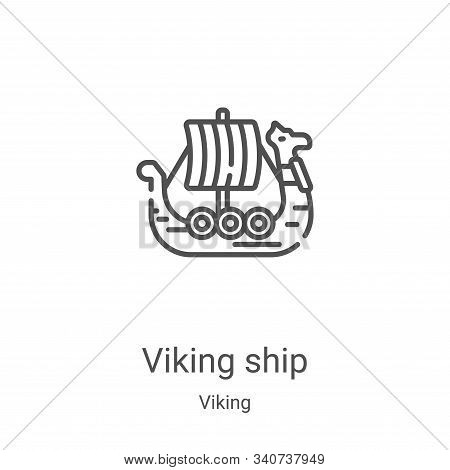 viking ship icon isolated on white background from viking collection. viking ship icon trendy and mo