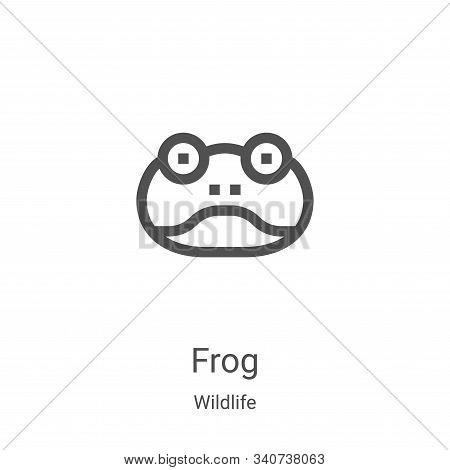 frog icon isolated on white background from wildlife collection. frog icon trendy and modern frog sy