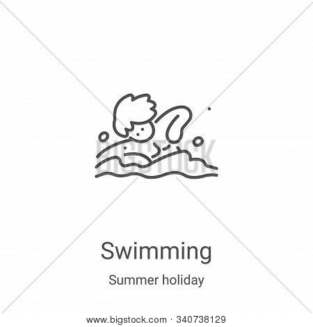 swimming icon isolated on white background from summer holiday collection. swimming icon trendy and