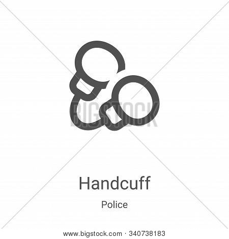 handcuff icon isolated on white background from police collection. handcuff icon trendy and modern h