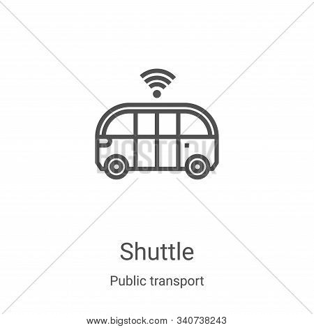 shuttle icon isolated on white background from public transport collection. shuttle icon trendy and