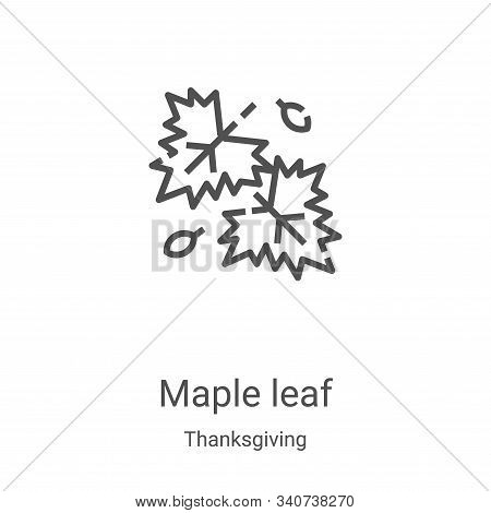 maple leaf icon isolated on white background from thanksgiving collection. maple leaf icon trendy an