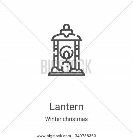 lantern icon isolated on white background from winter christmas collection. lantern icon trendy and