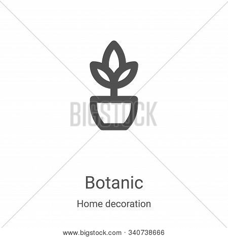 botanic icon isolated on white background from home decoration collection. botanic icon trendy and m