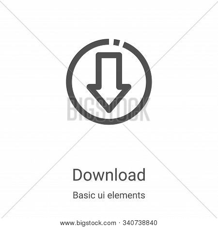 download icon isolated on white background from basic ui elements collection. download icon trendy a