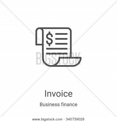 invoice icon isolated on white background from business finance collection. invoice icon trendy and