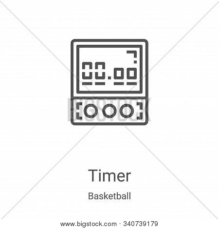 timer icon isolated on white background from basketball collection. timer icon trendy and modern tim