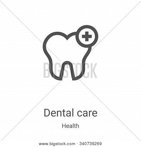 Dental care icon isolated on white background from health collection. Dental care icon trendy and mo
