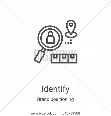 identify icon isolated on white background from brand positioning collection. identify icon trendy a