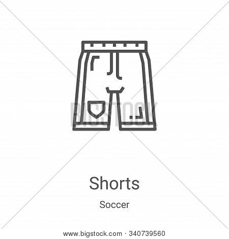 shorts icon isolated on white background from soccer collection. shorts icon trendy and modern short
