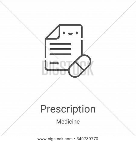 prescription icon isolated on white background from medicine collection. prescription icon trendy an