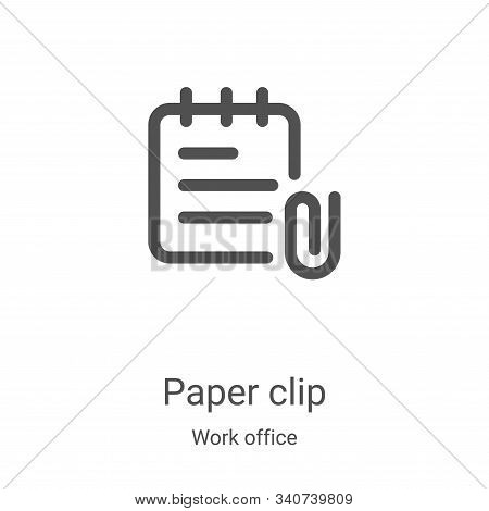 paper clip icon isolated on white background from work office collection. paper clip icon trendy and