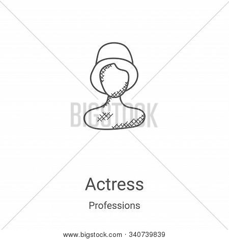 actress icon isolated on white background from professions collection. actress icon trendy and moder