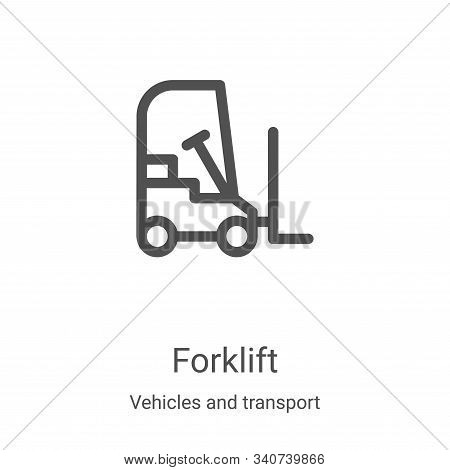 forklift icon isolated on white background from vehicles and transport collection. forklift icon tre