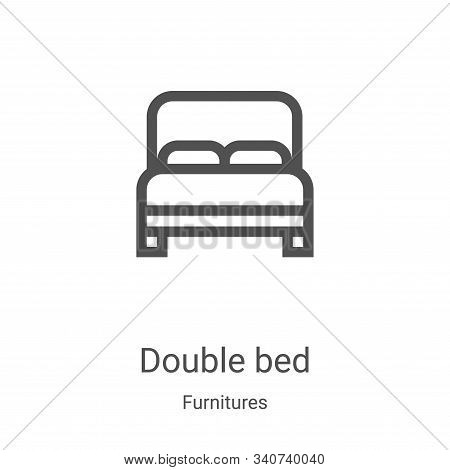 double bed icon isolated on white background from furnitures collection. double bed icon trendy and