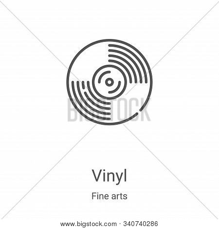 vinyl icon isolated on white background from fine arts collection. vinyl icon trendy and modern viny