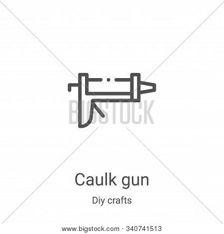 Caulk Gun Icon Vector From Diy Crafts Collection. Thin Line Caulk Gun Outline Icon Vector Illustrati