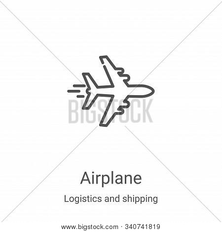 Airplane Icon Vector From Logistics And Shipping Collection. Thin Line Airplane Outline Icon Vector