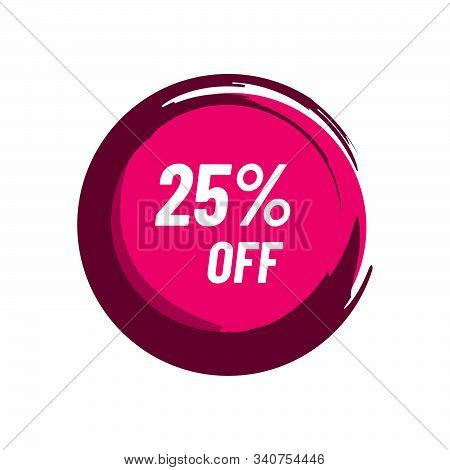 25% Off Sale 25 Percent Discount Marketing Promotional Poster Banner Design Vector Illustration