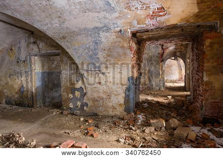 In The Casemate Of The Destroyed And Abandoned Northern Fort Zverev (northern Artillery Battery). Kr
