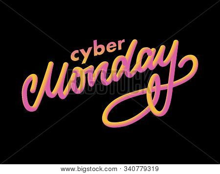 Cyber Monday Letter. Cyber Monday Sale Banner Vector. Cyber Monday Banner Design. Technology Backgro