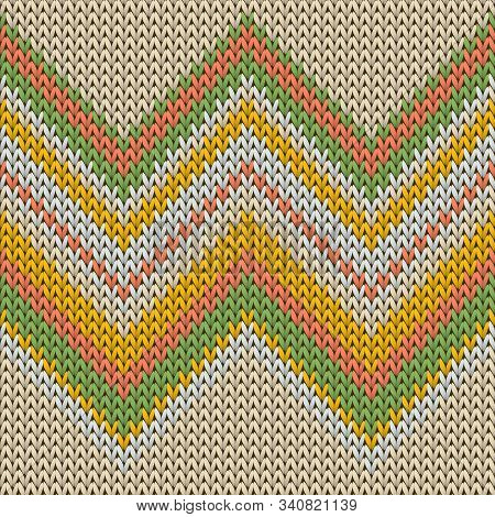 Material zig zal lines christmas knit geometric vector seamless. Blanket hosiery textile print. Scandinavian style seamless knitted pattern. Winter holidays wallpaper. poster