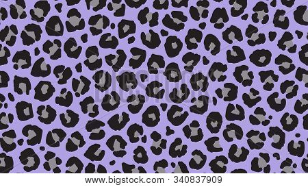 Seamless Leopard Fur Pattern. Fashionable Wild Leopard Print Background. Modern Panther Animal Fabri
