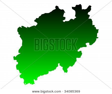 Map Of North Rhine-westphalia