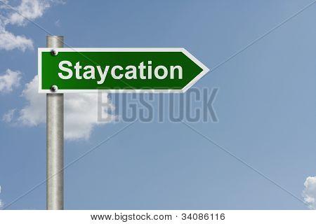 wobei ein staycation
