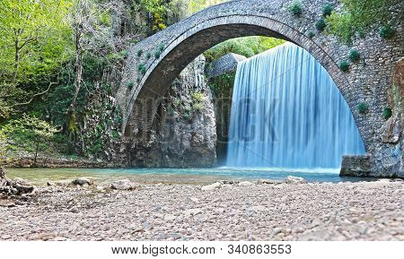 Long Exposure Photography Of The Waterfalls Of Paleokarya Trikala Greece - Long Exposure Photography