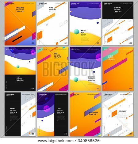 A4 Brochure Layout Of Covers Design Template For Flyer Leaflet, A4 Format Brochure Design, Report, P