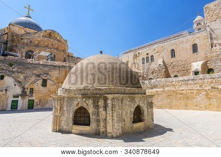 The Cupola In The Middle Of The Roof Of The Church Of Holy Sepulchre, Admits Light To St Helena's Cr