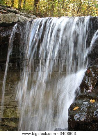 Close Up Of Water Falls