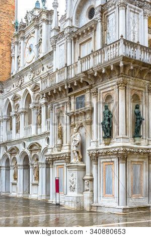 Doge`s Palace Or Palazzo Ducale, Venice, Italy. It Is One Of The Top Landmarks Of Venice. Beautiful