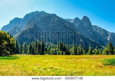 Mountain Landscape View At Yosemite National Park