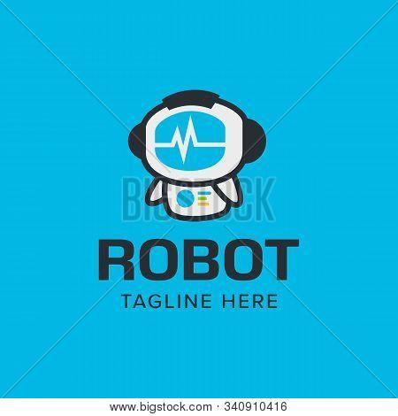 Smart Robot Logo Iconic. Modern Playful Design. Branding For Website, Software, Intelligence, Health