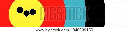 A Target With A Grouping Of Bullet Holes Close To The Bulls Eye As A Web Site Banner