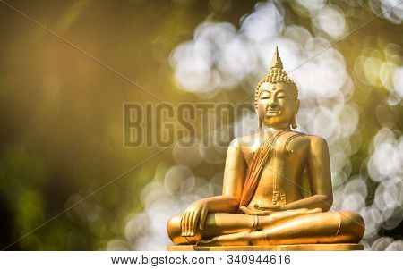 Budha Golden You From Nature Stone Ancient Ancient Times Cliping Part
