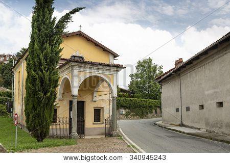 San Rocco Chapel In Bollengo Town, Turin, Region Piemonte, Italy