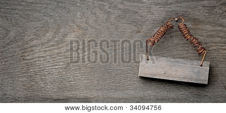wooden sign on distressed wooden wall