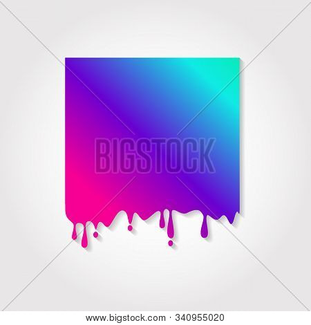 Vector Illustration Of Colored Neon Purple Frame